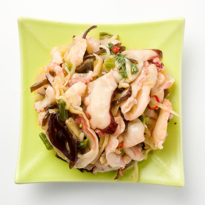 Salade poulpes et légumes